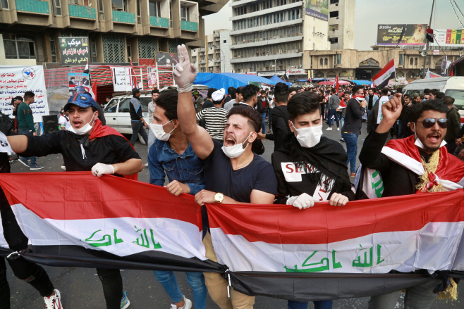 Iraq Protests <YONHAP NO-0712> (AP)