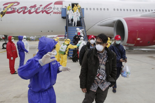 Indonesia China Outbreak <YONHAP NO-4947> (AP)