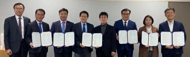 민주당, 4개 당과 비례연합 플랫폼 참여 협약<YONHAP NO-7164>