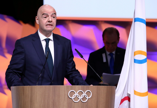 CHINA?HEALTH/SOCCER-INFANTINO <YONHAP NO-0842> (REUTERS)