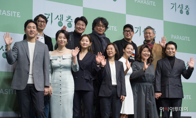 [포토]'기생충' 오스카 4관왕 주역들