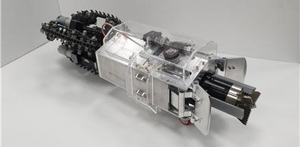 그림 3. 개발된 두더지 로봇(몰봇)