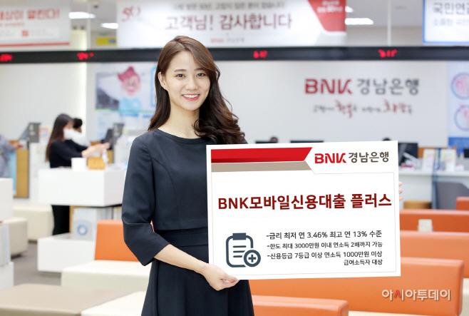'BNK모바일신용대출 플러스' 판매