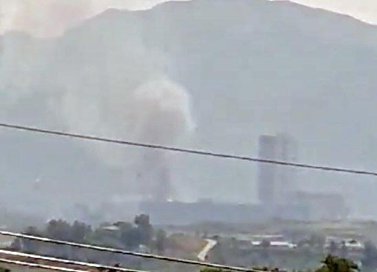 대성동 자유의 마을에서 목격된 개성공단의 연기