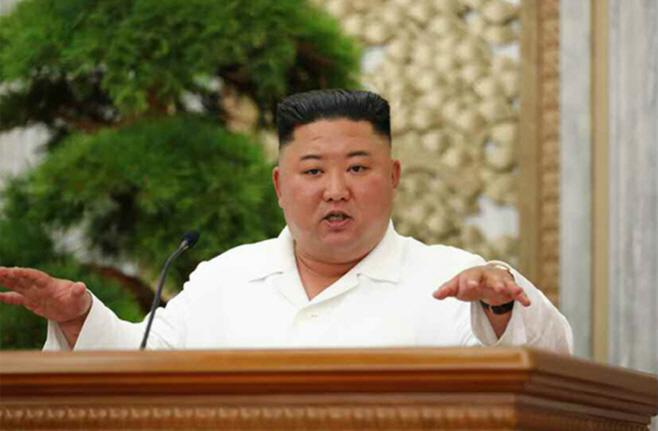 김정은, 당 정치국 확대회의 열고 코로나 논의