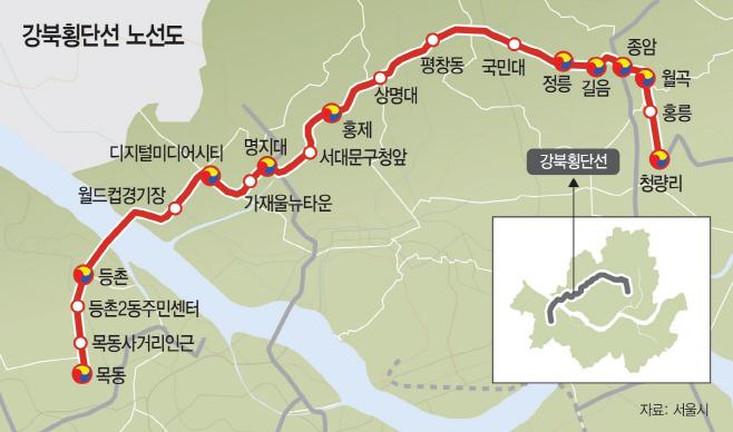 강북횡단선 노선
