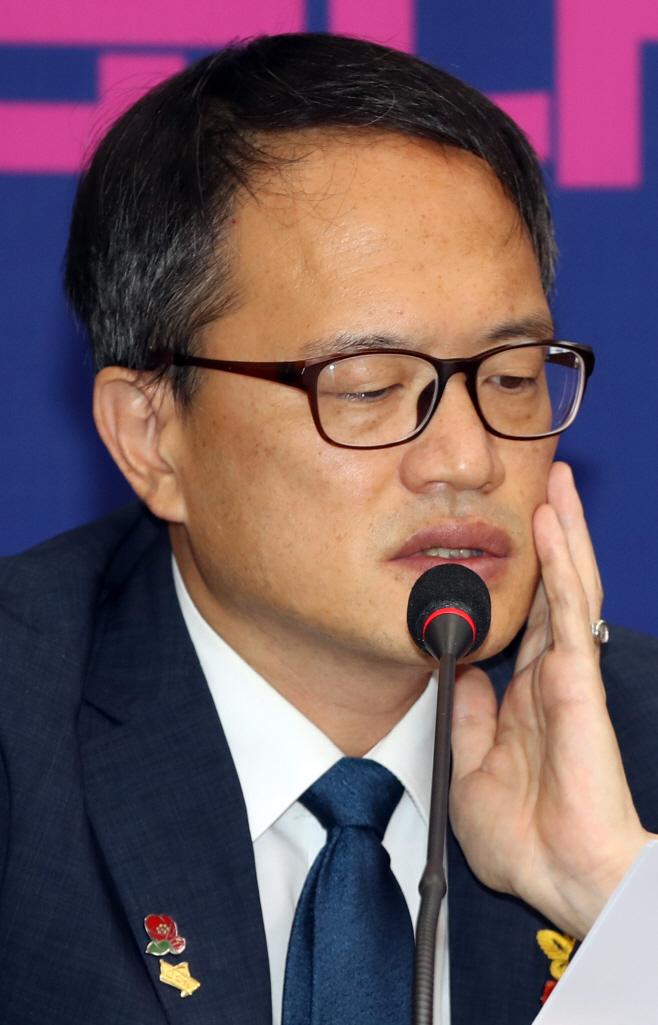 발언하는 박주민 최고위원
