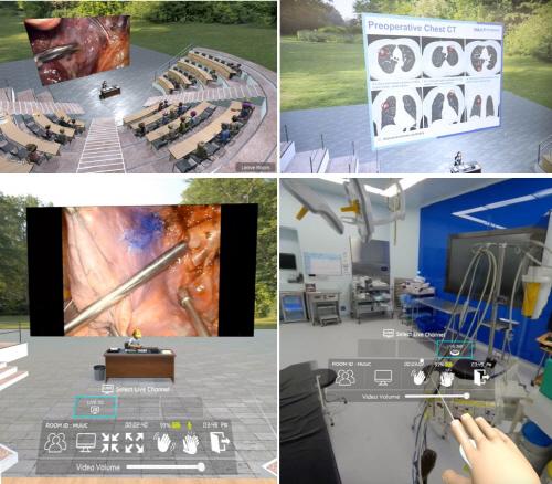 [사진2] 가상의 강의실과 수술실 모습