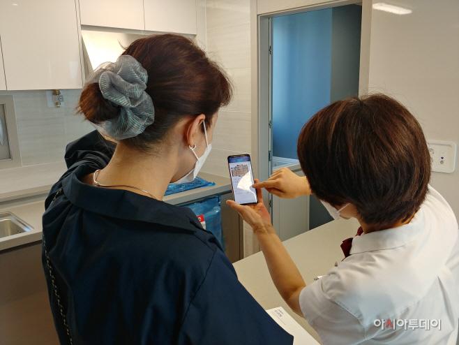 (사진2)모바일앱으로 불편사항 접수