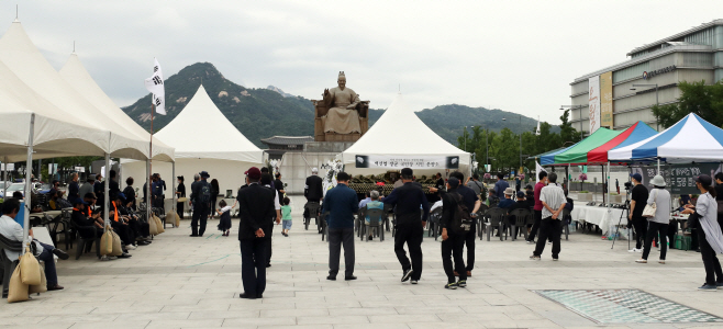 고 백선엽 장군 추모하는 시민들