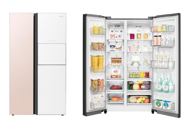 [첨부1] 클라쎄 컬러글라스 양문형 냉장고