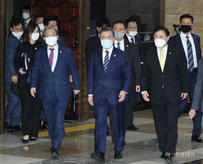 문재인 대통령, 국회 개원식 참석