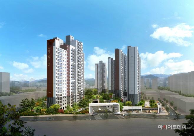 [대우건설] 서산 푸르지오 더 센트럴 (주경 투시도)