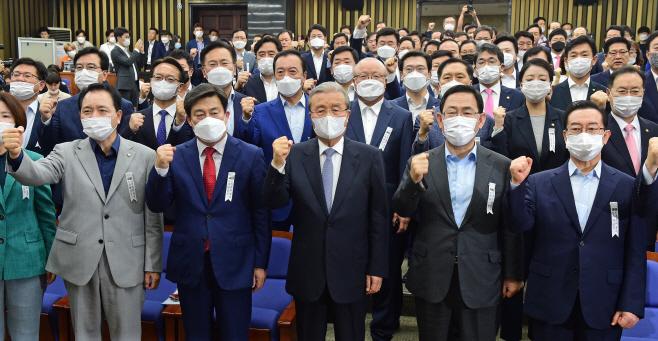 [포토] 민주당 규탄하는 통합당