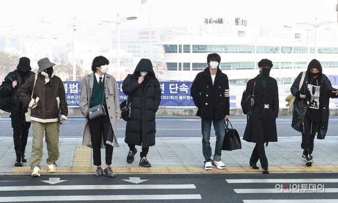 [포토]뉴욕 향하는 방탄소년단