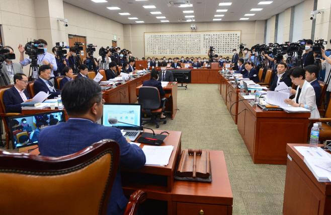 [포토] 국회 법제사법위원회 전체회의