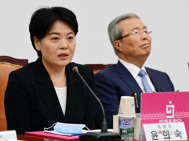 [포토] 발언하는 윤희숙 경제혁신특위 위원장