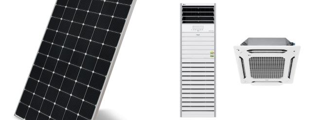 LG전자_고출력양면발전태양광모듈과 상업용 싱글 냉난방기