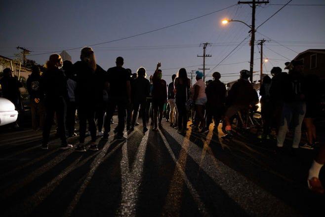 흑인총격사망 항의시위