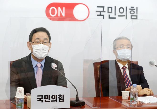 [포토] 주호영 '추미애 아들 구하려다...검찰·국방부 다 망가졌다'