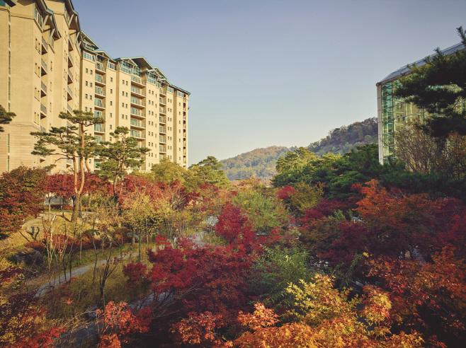 가을을 맞이한 곤지암리조트 전경