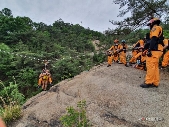구리소방서 산악구조훈련
