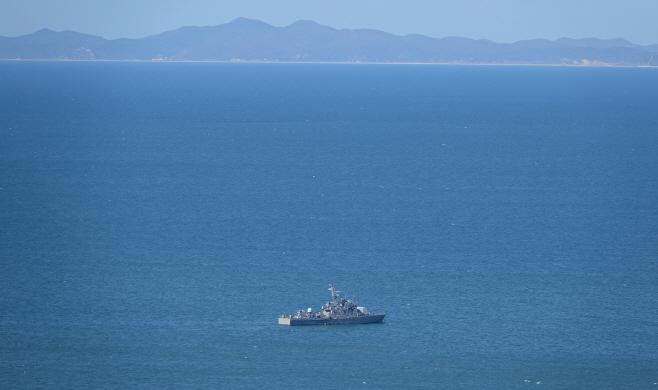 우리 영해 지키는 해군 함정