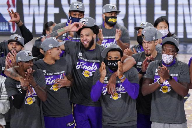 Nuggets Lakers Basketball <YONHAP NO-3357> (AP)