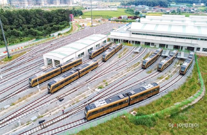 김포골드라인 김포한강차량기지(차량 추가제작)