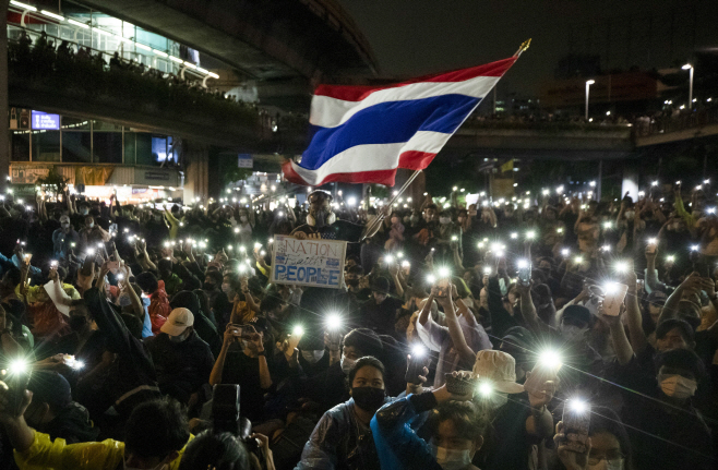 Thailand Protests <YONHAP NO-0353> (AP)