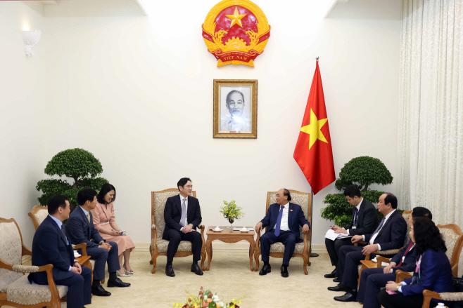 이재용 삼성전자 부회장, 베트남 총리 예방