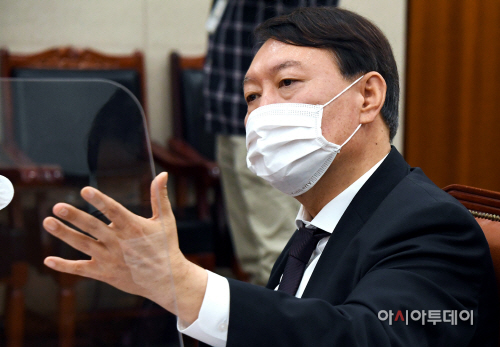 [포토] 국감 출석 답변하는 윤석열 검찰총장