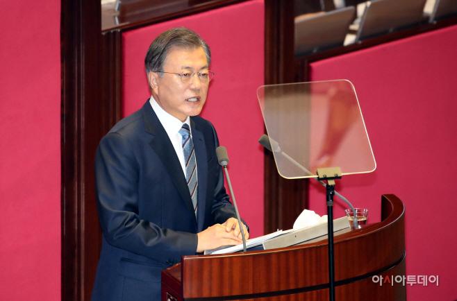 [포토] 문재인 대통령 '위기에 강한 나라'