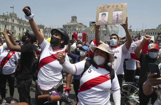 Peru Political Crisis <YONHAP NO-0422> (AP)