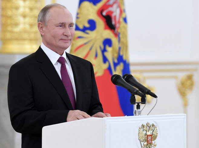 Russian President Putin receives credentials from foreign ambassadors