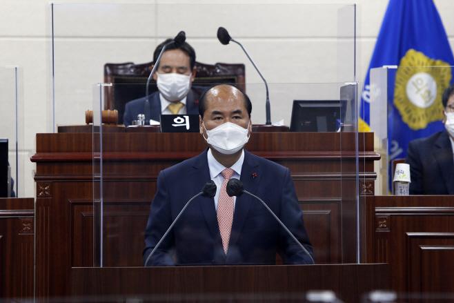 상주시의회 정례회 개회식 강영석시장 시정연설1