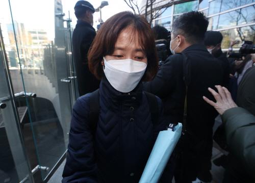행정법원 들어가는 박은정 법무부 감찰담당관