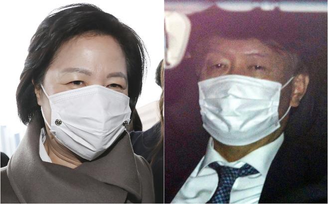 출근하는 추미애 법무부 장관과 윤석열 검찰 총장