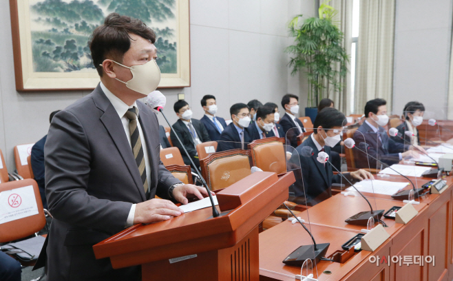 [포토] 최재성 청와대 정무수석 국회 운영위 인사말