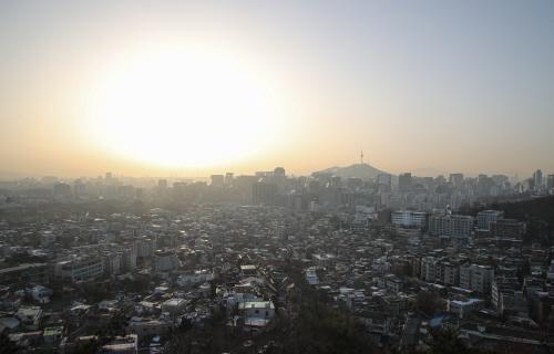 대기 정체 희뿌연 서울