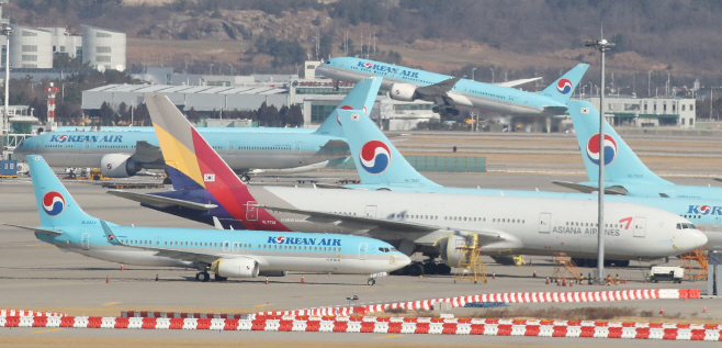 아시아나항공 인수에 속도내는 대한항공<YONHAP NO-3579>