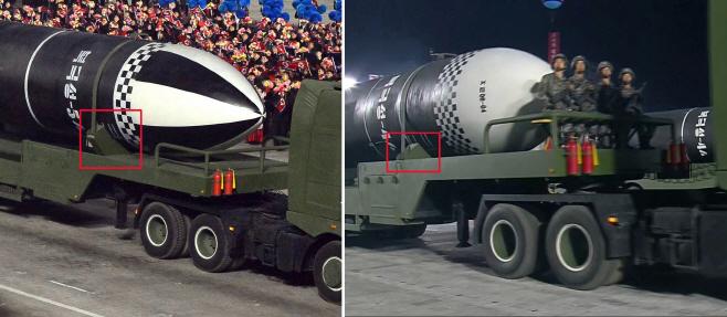 몸집 키운 북한 신형 SLBM…