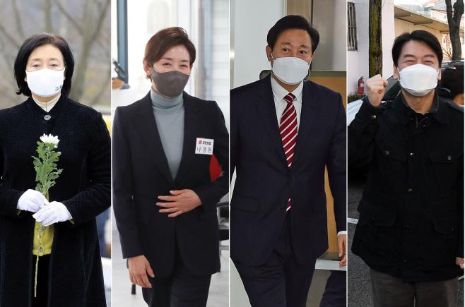 서울시장 후보들의 분주한 행보