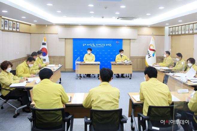 """맹정호 서산시장 """"다시 한번 코로나19 방역 대응 고삐 당길 것"""