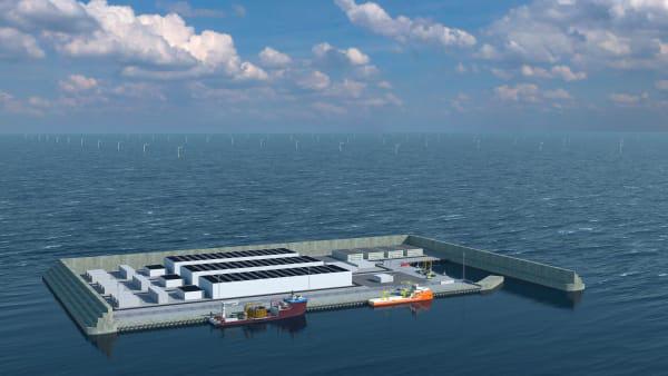 해상풍력 인공 에너지섬 조감도
