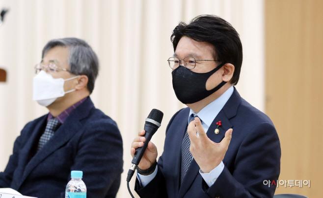 [포토] 인사말하는 황운하 민주당 의원