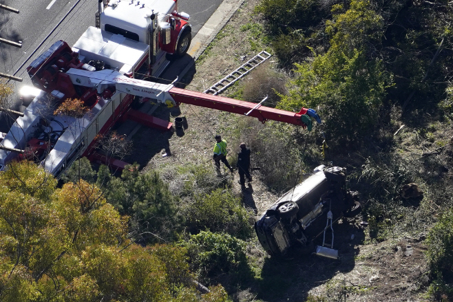 Tiger Woods Vehicle Crash <YONHAP NO-1577> (AP)