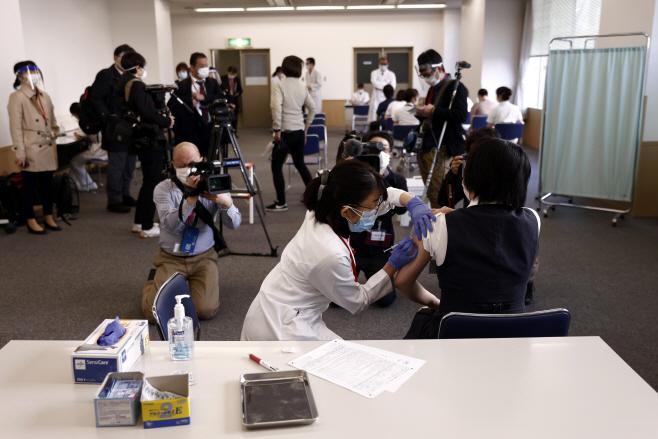 Virus Outbreak Japan Vaccine <YONHAP NO-2313> (AP)