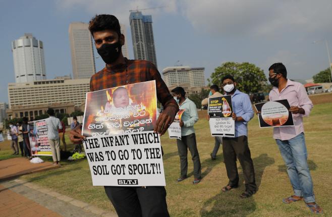 Virus Outbreak Sri Lanka <YONHAP NO-4412> (AP)