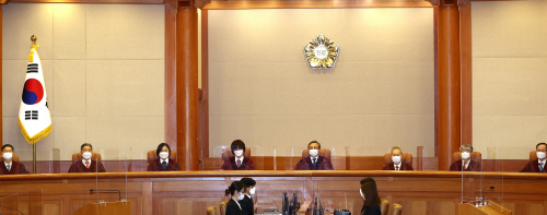 헌법재판소 선고<YONHAP NO-4741>